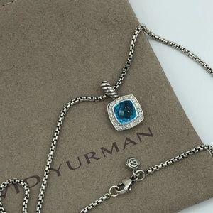 David Yurman Petite Albion Blue Topaz Necklace